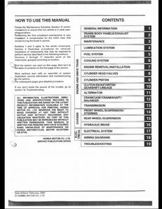 Honda XR650R Motocycle service manual