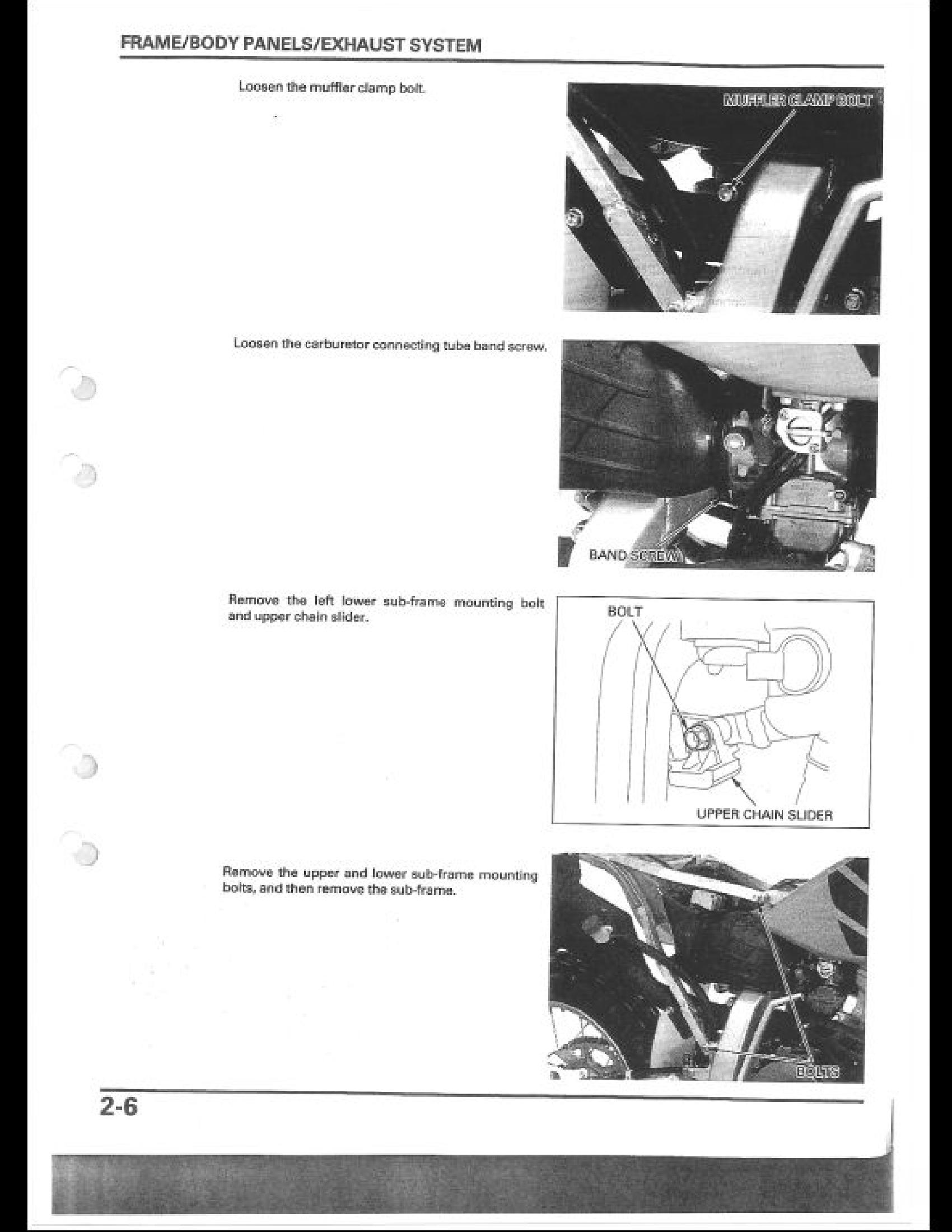 Honda XR650R Motocycle manual