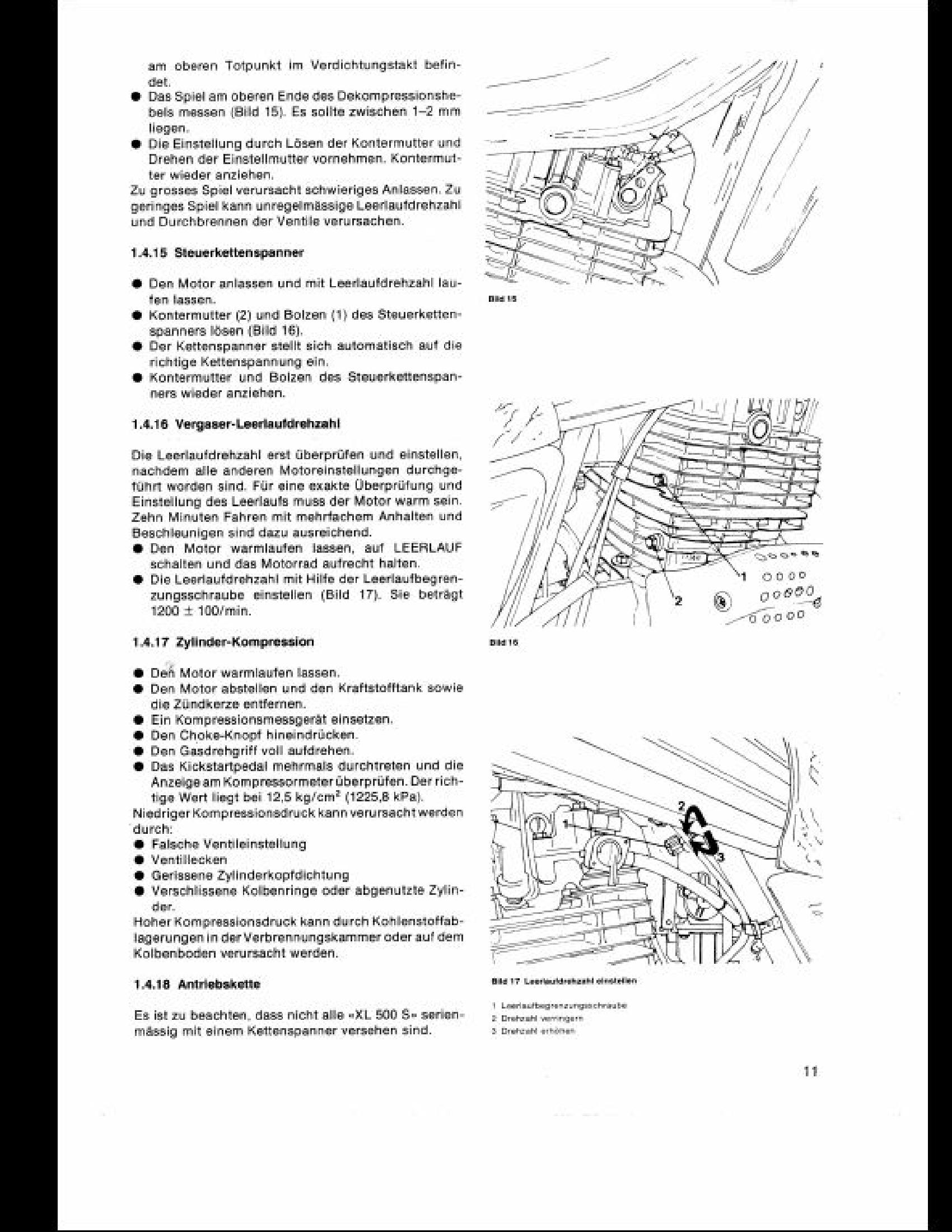 Honda 500 XL Motorcycle manual