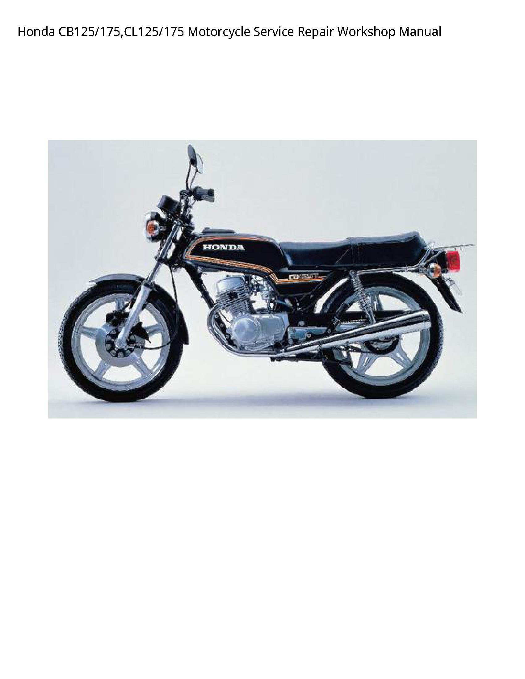 Honda CB125/175 Motorcycle manual