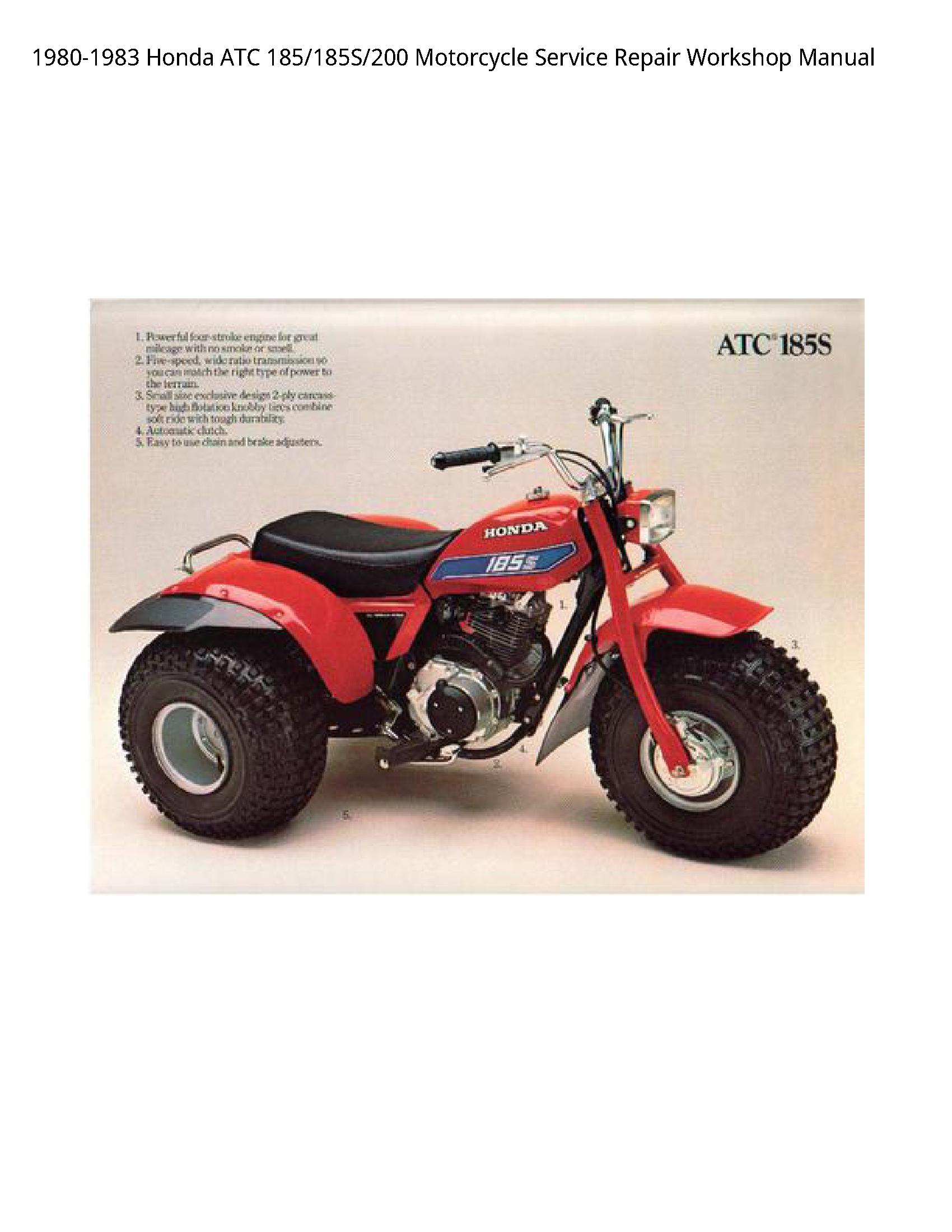 Honda 185 ATC Motorcycle manual