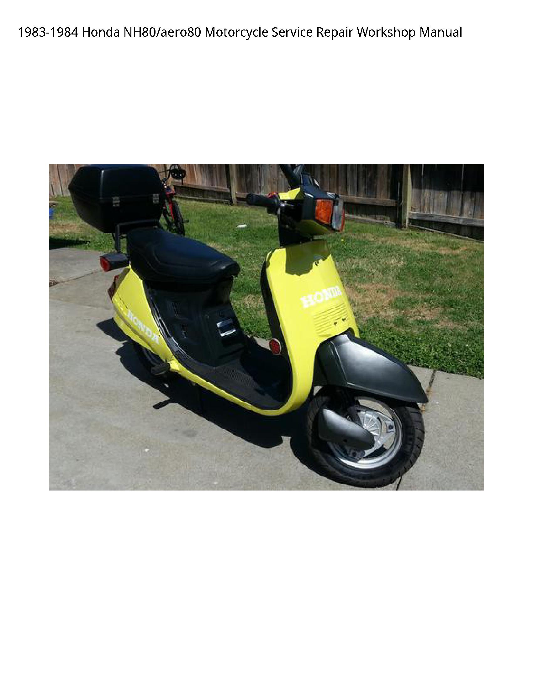 Honda NH80 Motorcycle manual