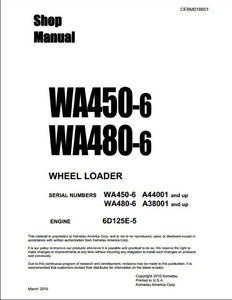 KOMATSU WA450-6 Wheel Loaders manual