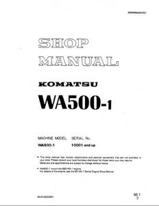 KOMATSU WA500-1 Wheel Loaders manual
