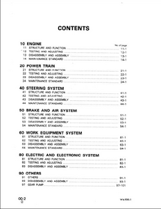 KOMATSU WA500-1 Wheel Loaders service manual
