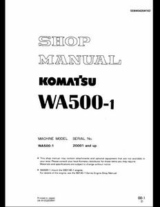 KOMATSU WA500-1 Wheel Loaders manual pdf