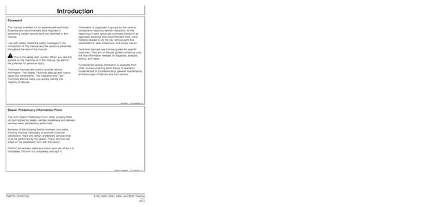 John Deere 8130 manual