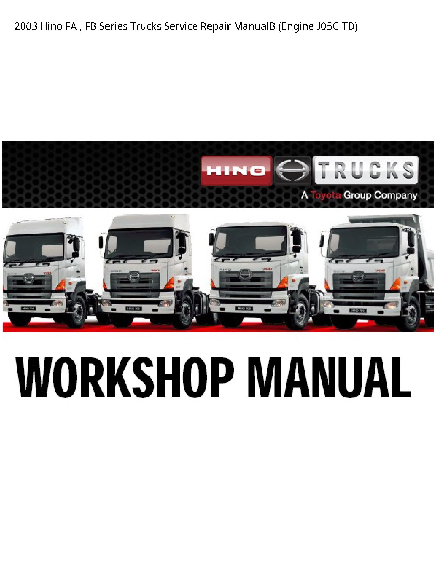 Hino FA FB Series Trucks manual