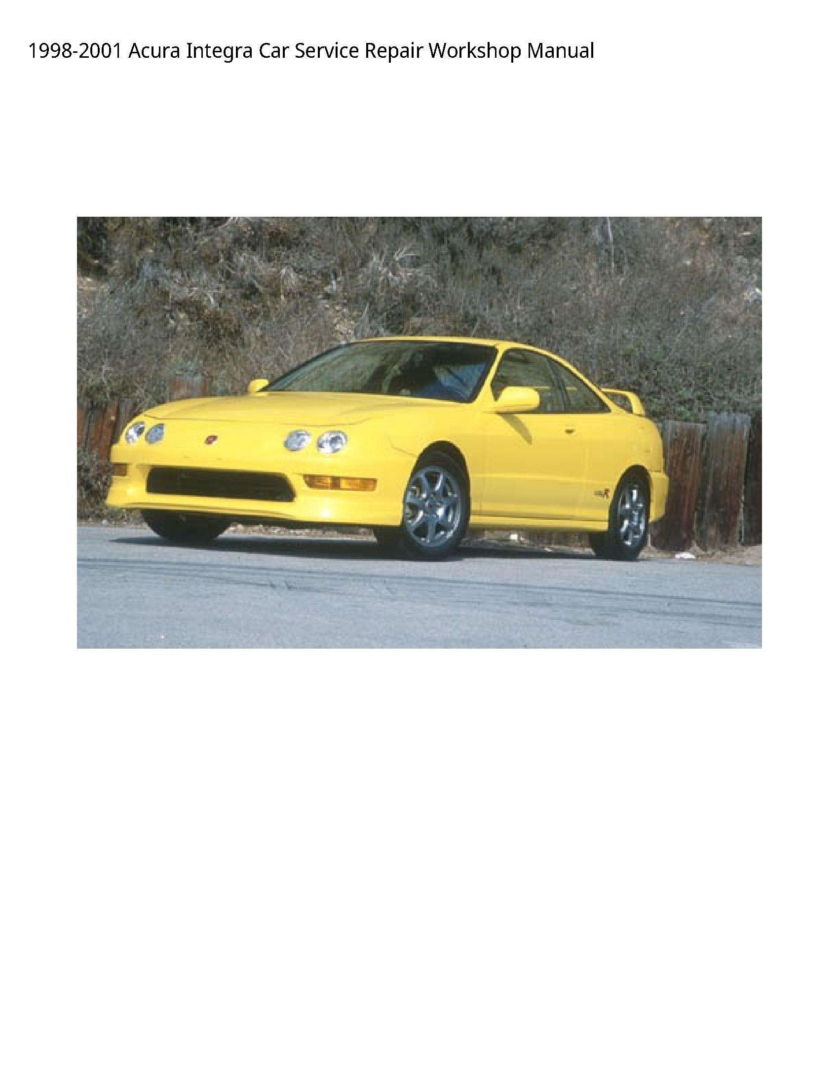 Acura Integra Car manual