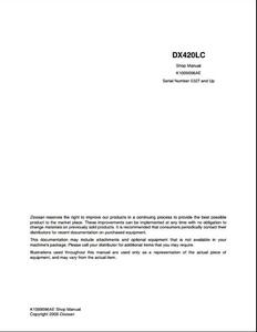 Doosan DX420LC Crawled Excavator manual