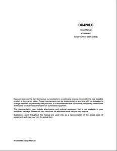 Doosan DX420LC Crawled Excavator manual pdf