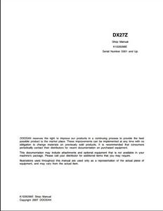 Doosan DX27Z Crawled Excavator manual