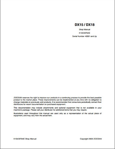 Doosan DX480LCA Crawled Excavator manual
