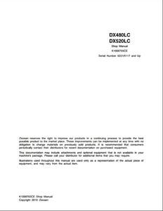 Doosan DX480LC Crawled Excavator manual