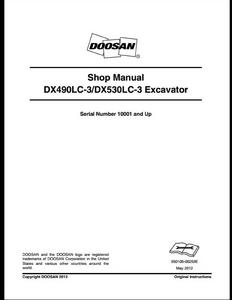Doosan DX490LC-3 Crawled Excavator manual