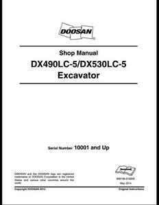 Doosan DX490LC-5 Crawled Excavator manual