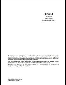 Doosan DX700LC Crawled Excavator manual