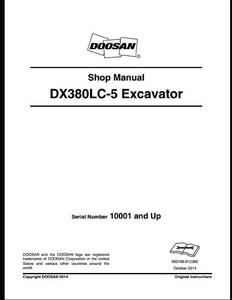 Doosan DX380LC-5 Crawled Excavator manual