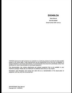 Doosan DX340LCA Crawled Excavator manual