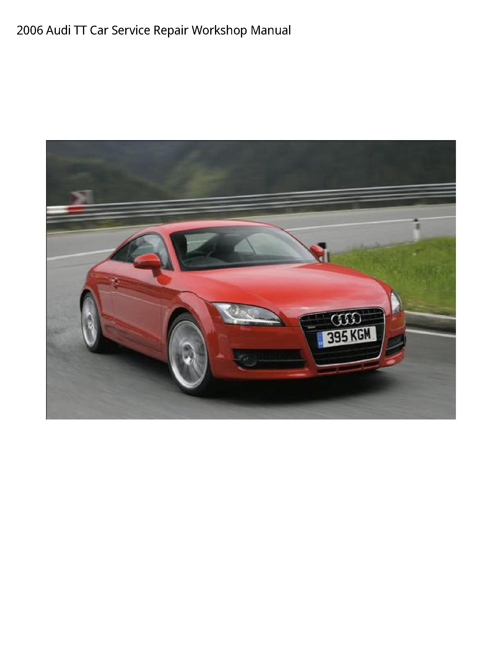 Audi TT Car manual