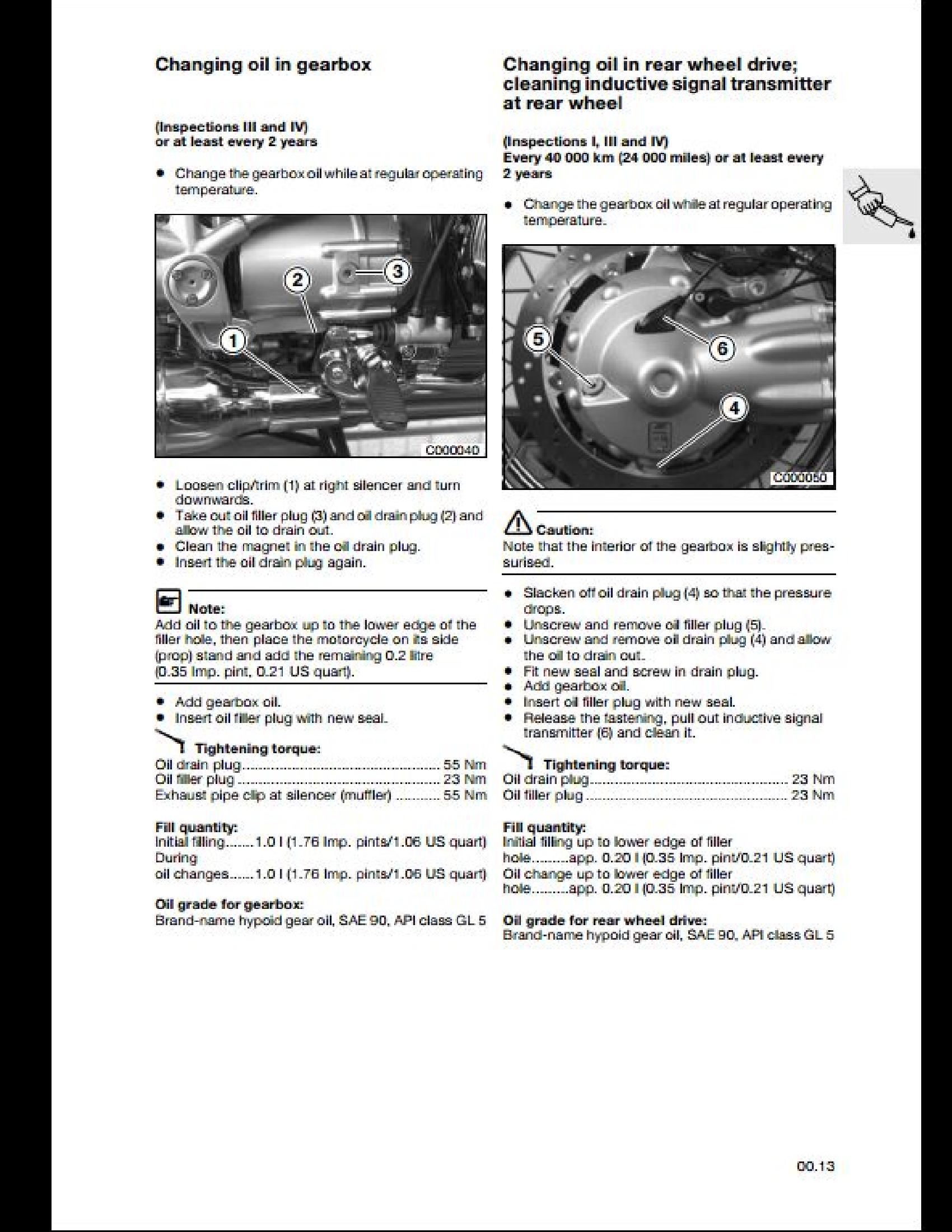 BMW R1200C Motorcycle manual