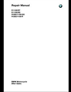 BMW R1100RT Motorcycle manual