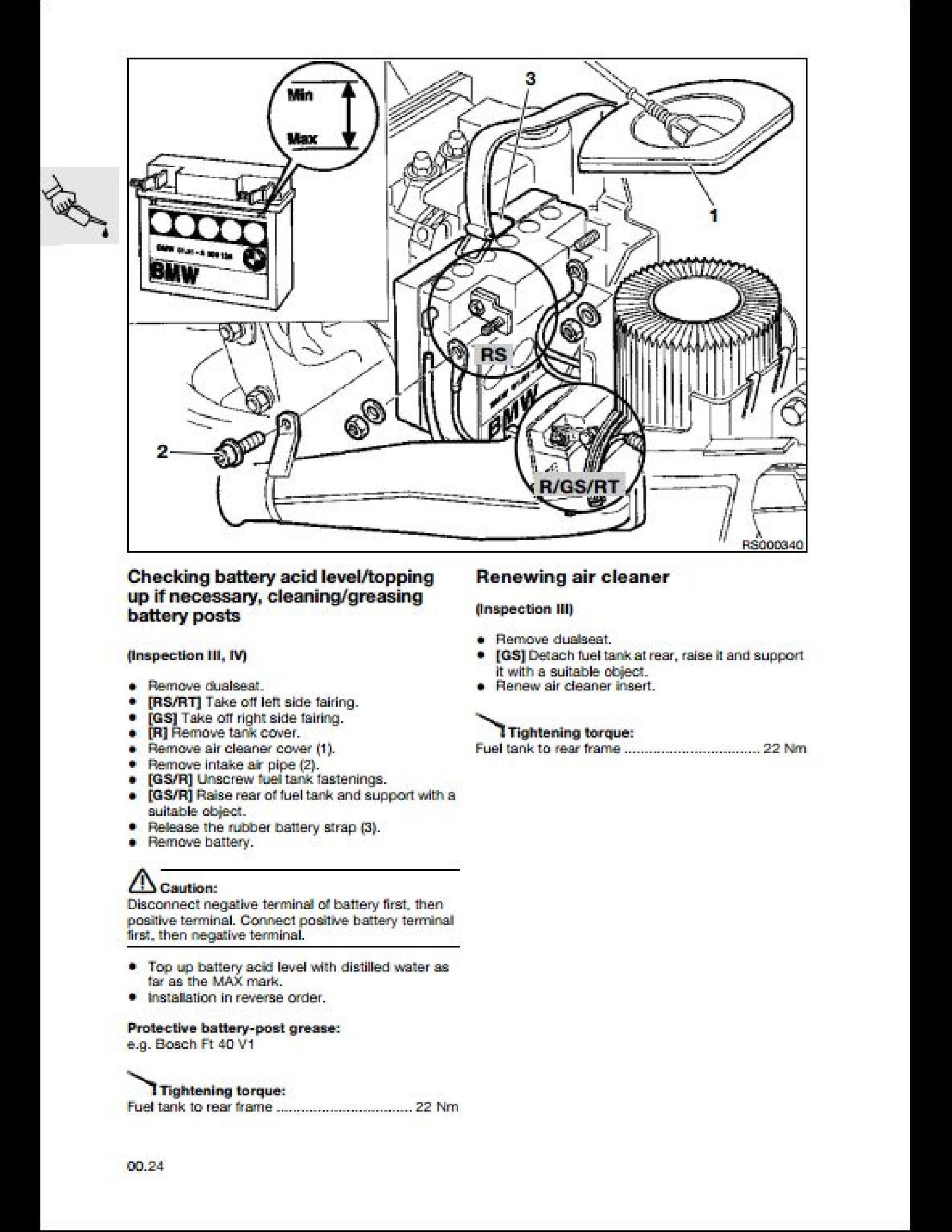 BMW R850/1100R Motorcycle manual