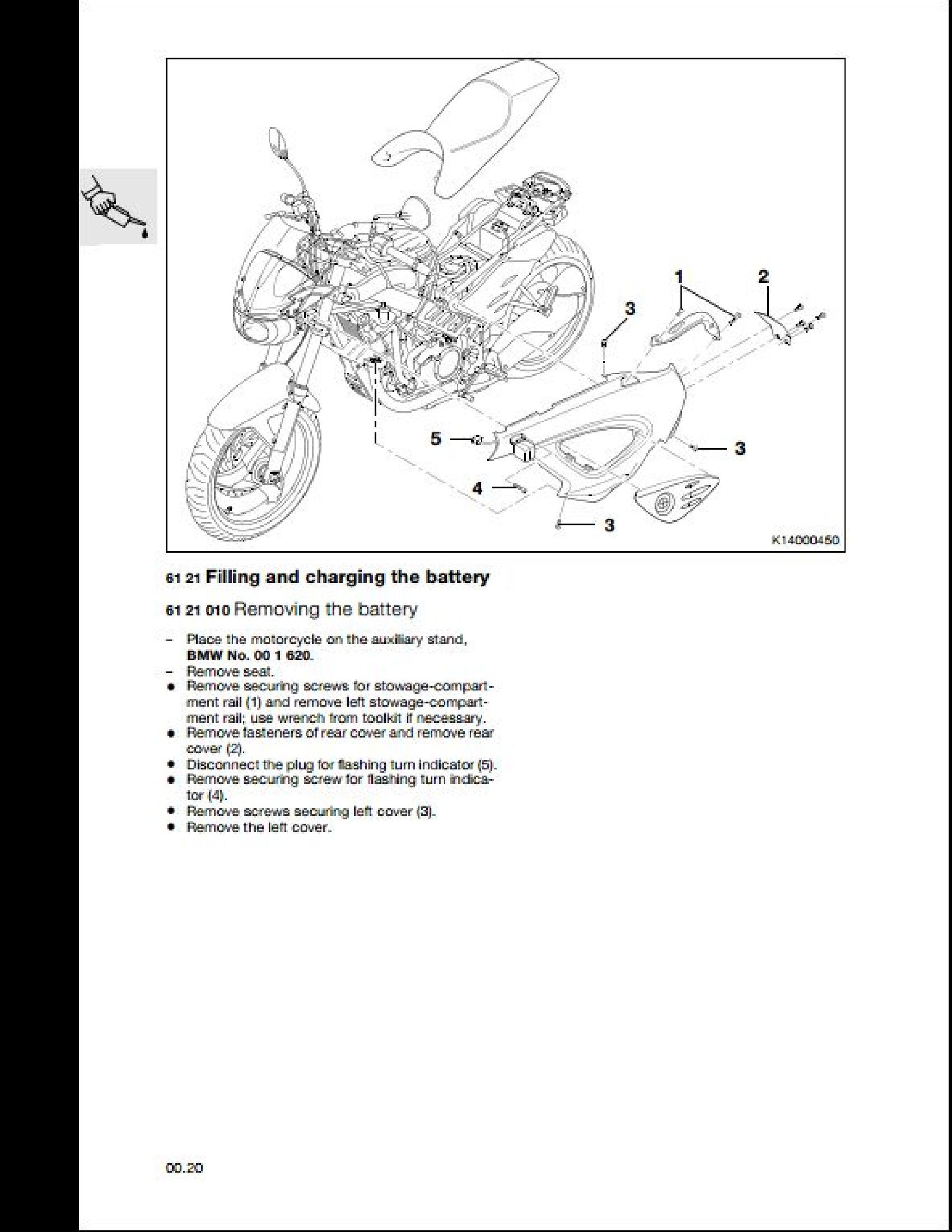 BMW F650CS Motorcycle manual