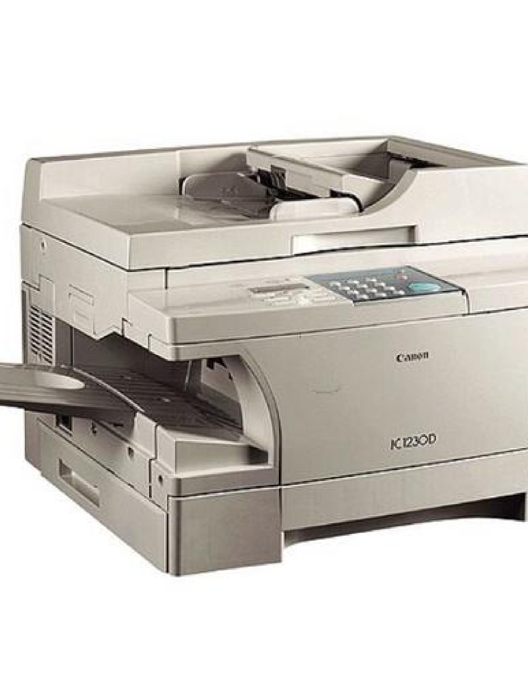 Canon PC1200s SmartBase Printer manual