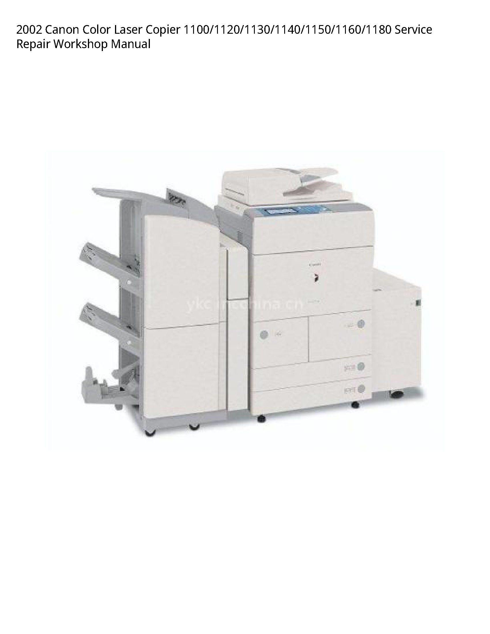 Canon 1100 Color Laser Copier manual
