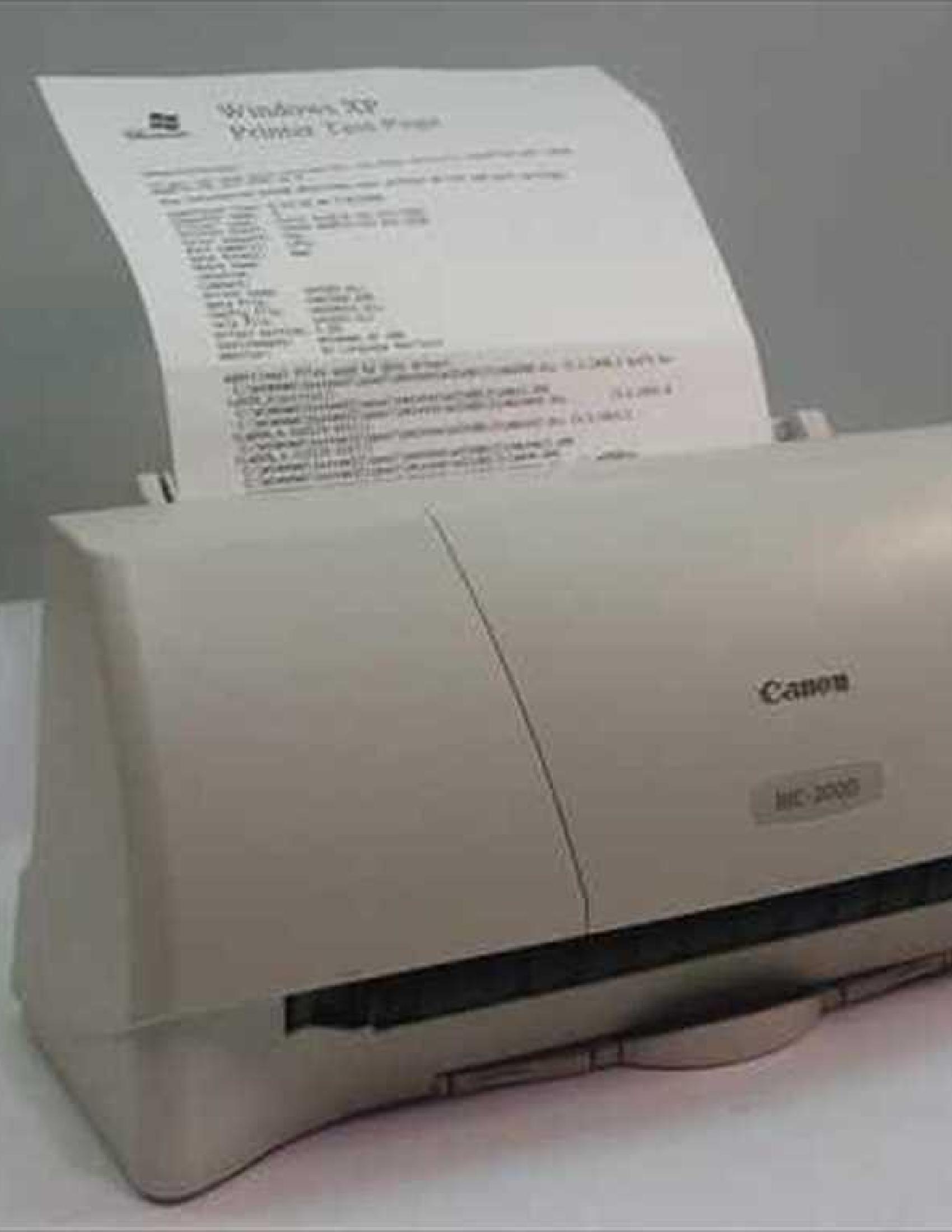 Canon BJC-2000 Printer manual