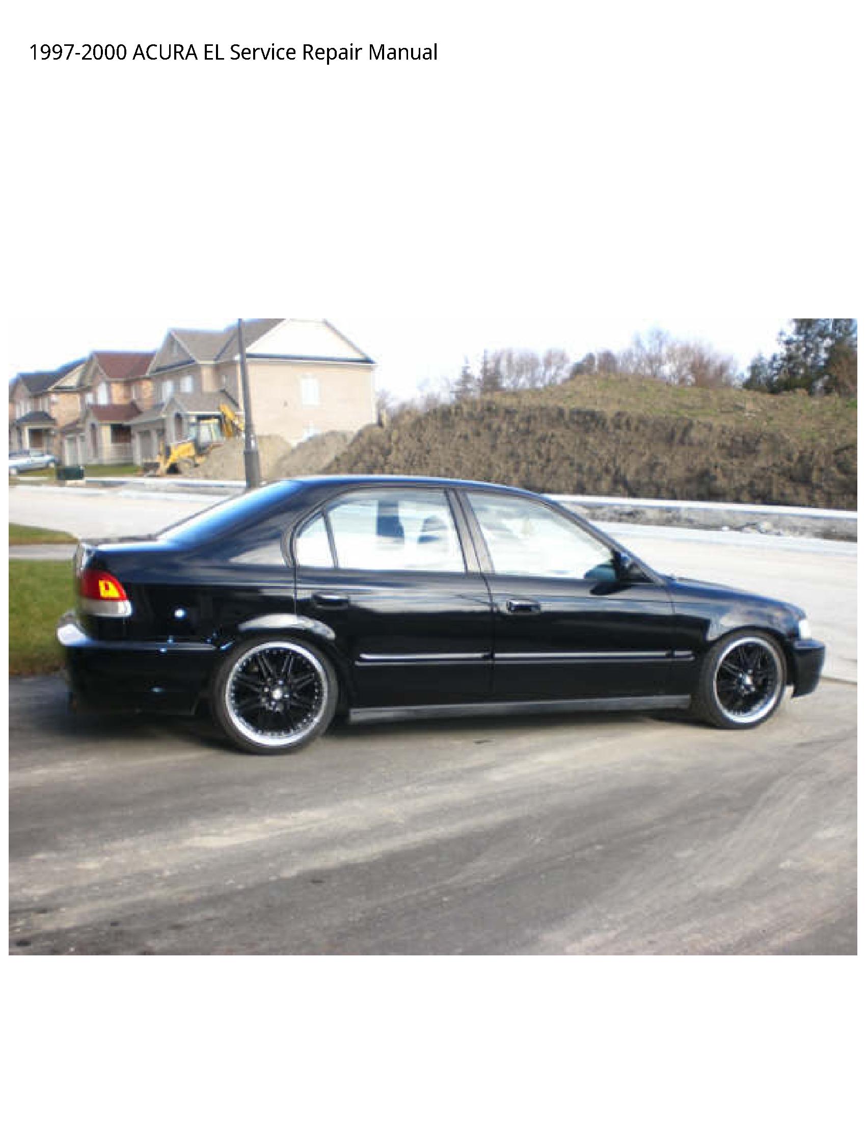 Acura EL manual