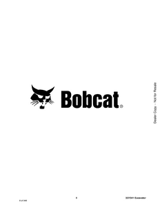 Bobcat 341 Compact Excavator manual