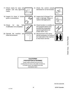Bobcat 341 Compact Excavator manual pdf
