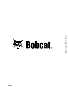 Bobcat 341 Mini Excavator G Series manual pdf