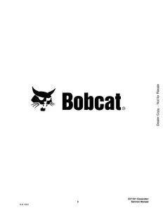 Bobcat 341 Mini Excavator G Series manual