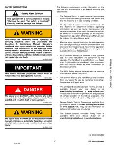 Bobcat 335 Compact Excavator manual pdf