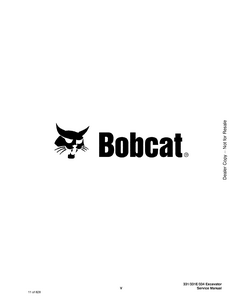 Bobcat 334 Hydraulic Excavator G Series manual