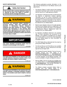 Bobcat 334 Compact Excavator manual pdf