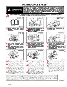 Bobcat X331E Hydraulic Excavator manual