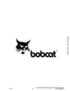 Bobcat X334 Hydraulic Excavator manual pdf