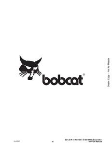 Bobcat X331 Hydraulic Excavator manual pdf