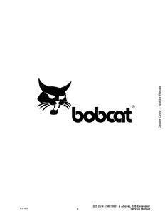 Bobcat X328 Excavator manual