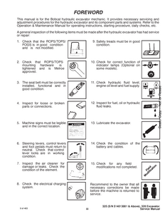 Bobcat X328 Excavator service manual