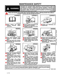 Bobcat 328 Hydraulic Excavator D Series manual