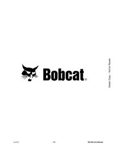 Bobcat 324 Compact Excavator service manual