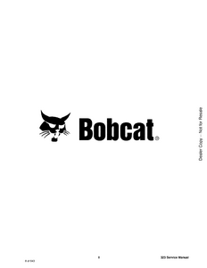 Bobcat 323 Compact Excavator manual