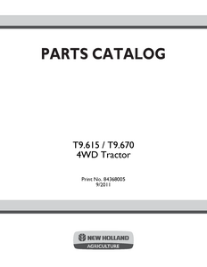 New Holland T9.615 manual