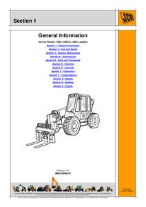 JCB 506C Loadalls manual