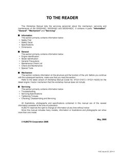 Kubota B2630HSD manual